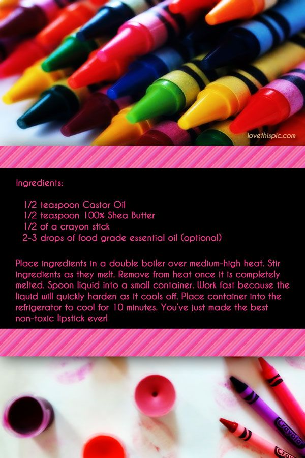 DIY Crayon Lipstick Pictures, Photos, and Images for Facebook, Tumblr, Pinterest, and Twitter