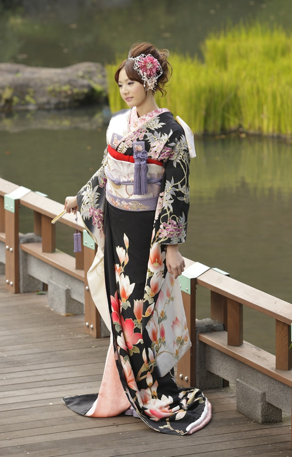 着物。Japanese traditional dress.