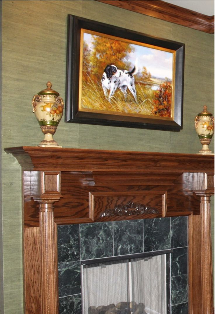 1000 images about go green grasscloth on pinterest for Fireplace accent wall