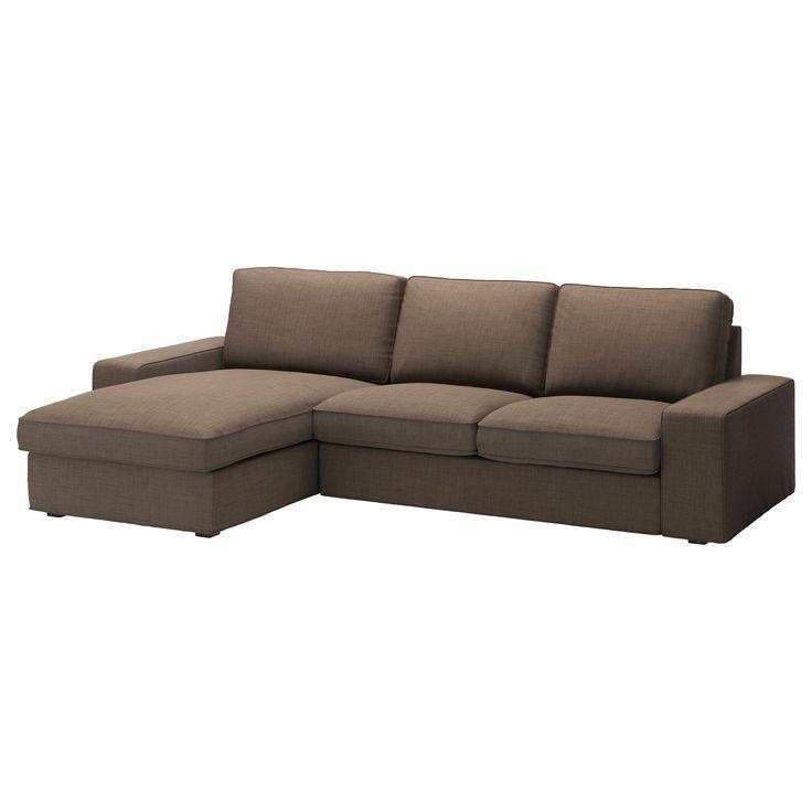 KIVIK Loveseat and chaise lounge - Isunda brown - IKEA