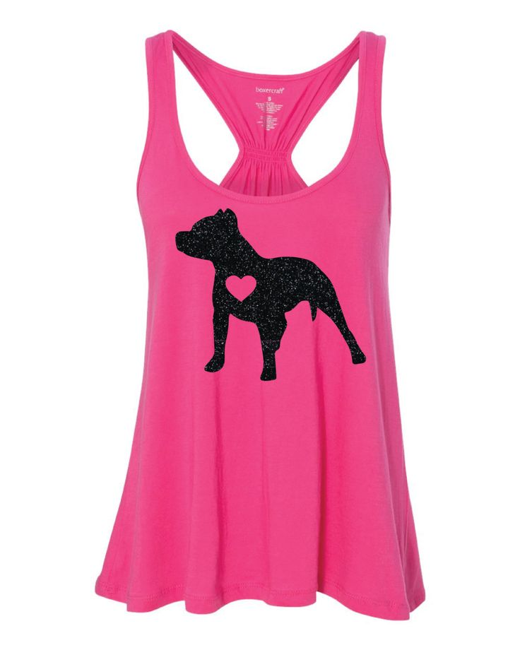 Pitbull Love - Pitbull Silhouette - Women's Flare Tank - Cute Tank Top by GraphicsUnlimitedLLC on Etsy
