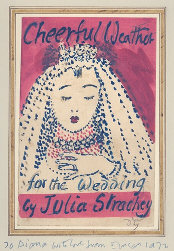 artist...Duncan Grant design for the dust jacket of Cheerful weather for the wedding by Julia Strachey