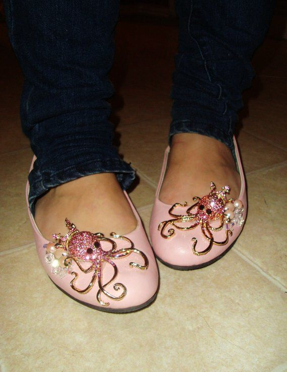 custom awesome shoes jewelled octopus cameos studs peacock feathers