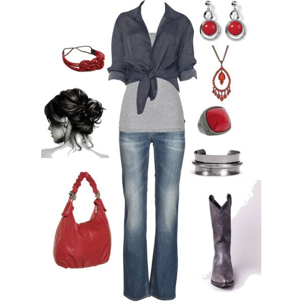 grey and red by kristen-344 on Polyvore featuring Ksubi, School Rag, Frye, BELGO LUX, White House Black Market, Nordstrom, Vince Camuto, Ben-Amun and Amrita Singh
