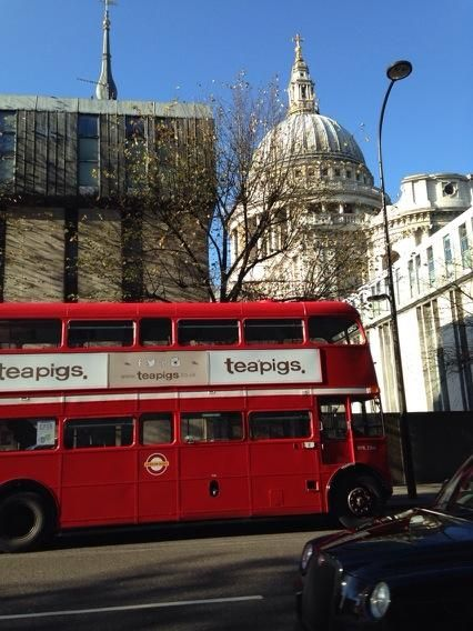 Beep beep, the teapigs bus at St Pauls #teapigsfreeteaday