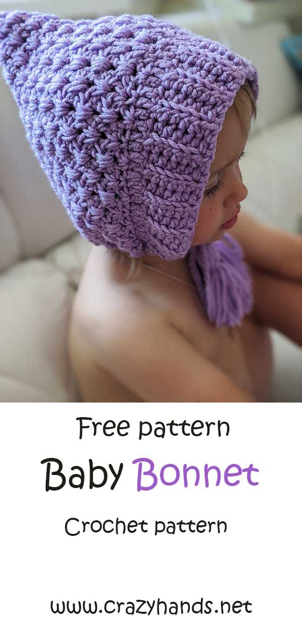 Crochet Baby Infant Pixie Hat Pattern Crazy Hands Knitting Baby Bonnet Crochet Pattern Crochet Baby Patterns Crochet Baby Hat Patterns