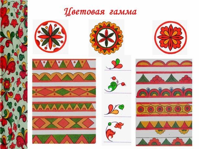 пермогорская роспись элементы - Поиск в Google
