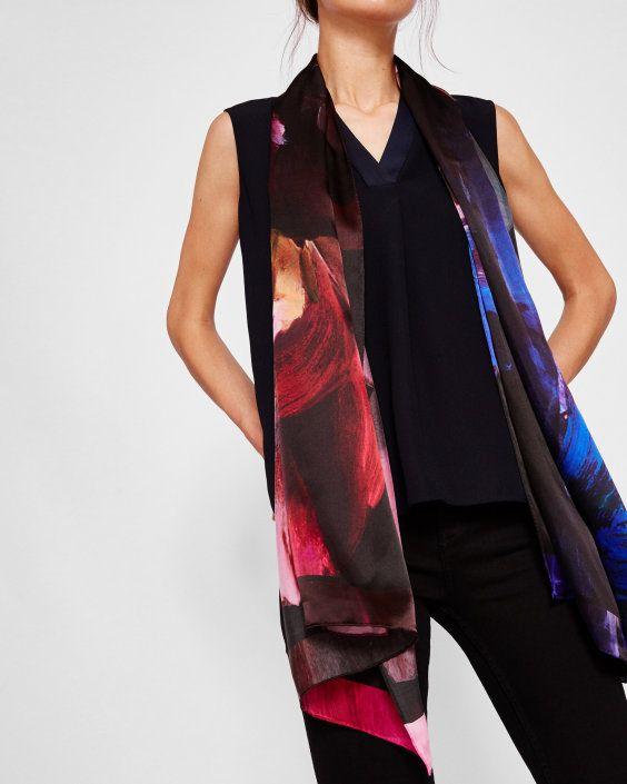 Cashmere Silk Scarf - Celestial Stitches by VIDA VIDA OxvP3O9hM