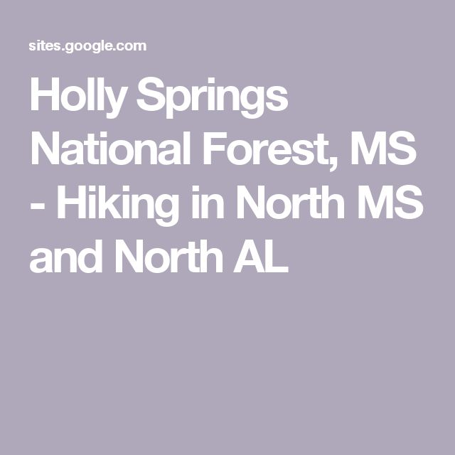 Holly Springs National Forest, MS - Hiking in North MS and North AL