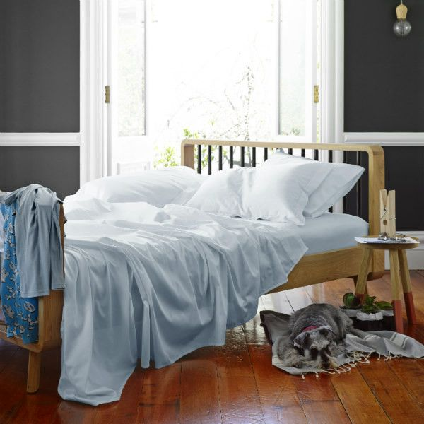 Classic Luxe Bed Sheet Set In Sky from Sheets on the Line