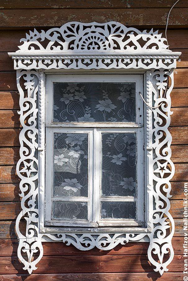 Традиционный русский наличник из Пошехонья Ярославской области