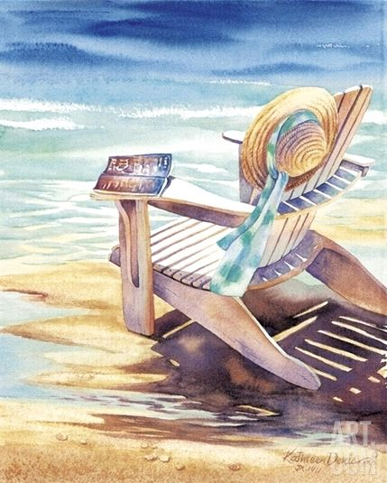 Beach Paintings -Beach Chairs  Umbrellas – Beach Bliss Living - Decorating and Lifestyle Blog