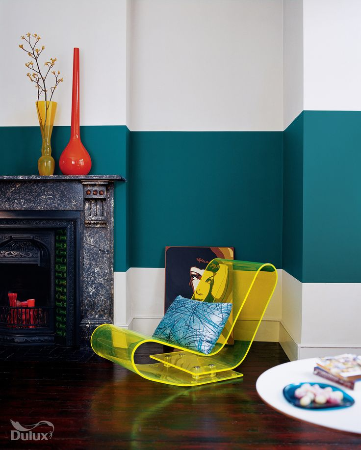 Color Blocking Your Walls Is Simple And Chic. For More Paint Color Ideas  And Interior Inspiration, Head To Domino. Part 97