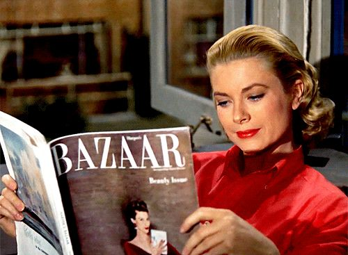 Grace Kelly in Rear Window (Alfred Hitchcock, 1954)