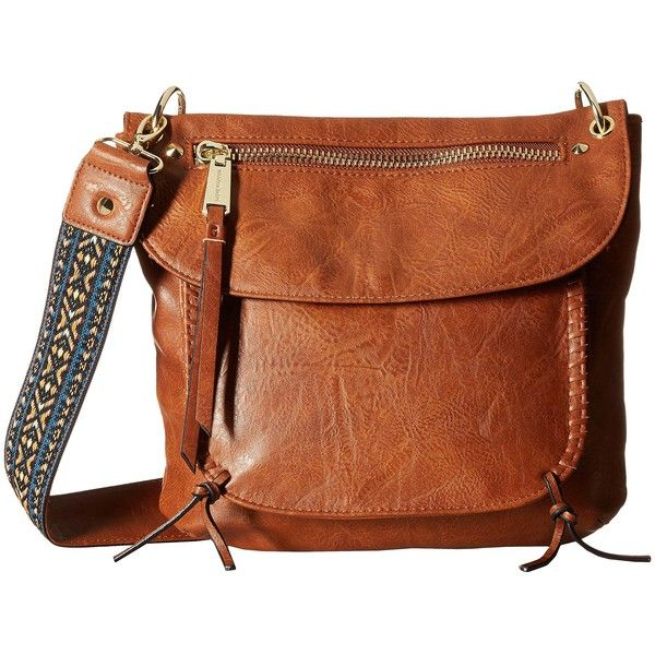 Steve Madden BChange Crossbody (Cognac) Cross Body Handbags ($41) ❤ liked on Polyvore featuring bags, handbags, shoulder bags, tan, steve madden crossbody, crossbody purse, brown crossbody, hand bags and crossbody shoulder bags