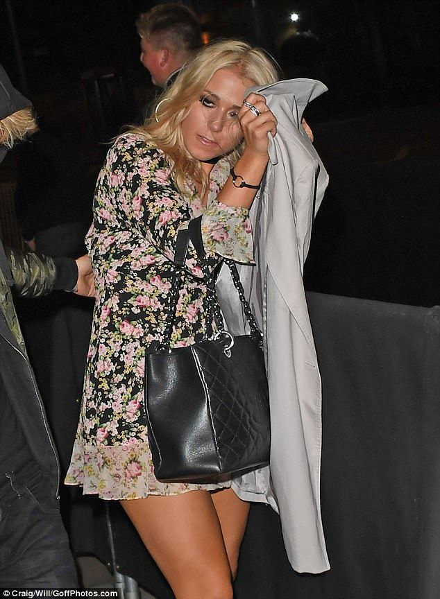 The Made In Chelsea star and the former X Factor contestant both appeared a little worse for wear as they stumbled out of the club