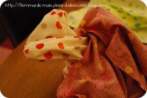 Vide-poche... Range-bordeldésordre... Paniers (ou panière) en tissu. Appelez ça comme vous voulez, parce que ça peut servir à tout et n'importe quoi. Dans les WC, il y en a un dans lequel j'ai rangé les petites serviettes pour les mains de nos gentils...