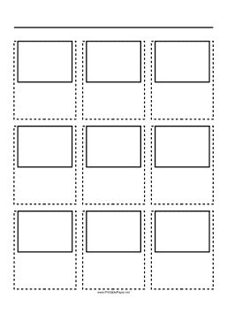 Filmmakers, animators, Web developers and others use storyboard templates to sketch out scenes. This printable, A4 size storyboard paper has a 3x3 grid of 4:3 ratio (full screen) screens. Free to download and print