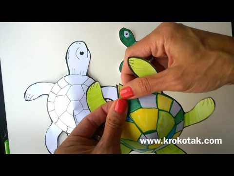 Glue-less printable turtle | krokotak