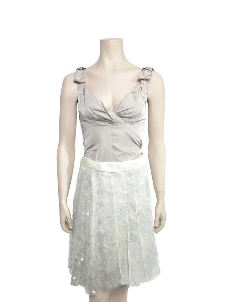 Louis Vuitton Lace Embellished Skirt www.sabrinascloset.com