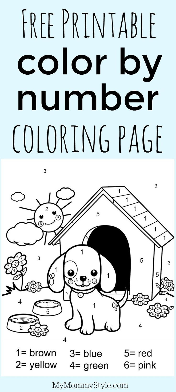 Colors for learning free printable learning colors coloring pages are - Color By Number Coloring Page Free Printable