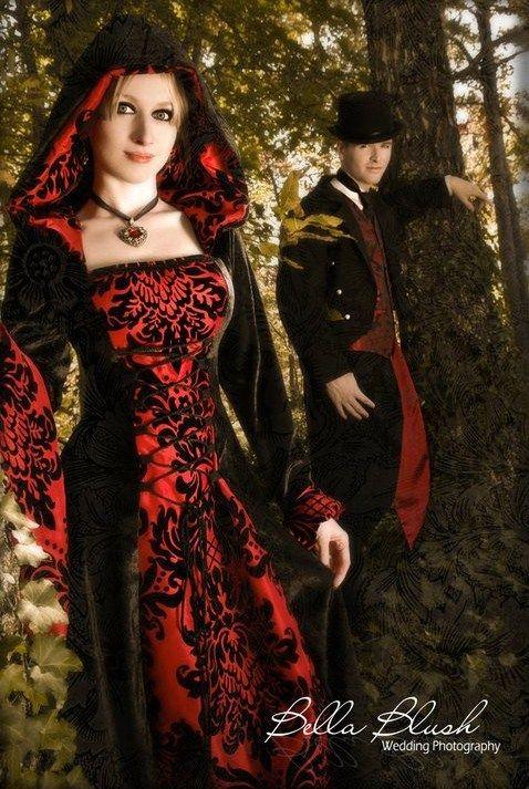 53a2ffae78a15c057ef0911e978aa76e  halloween wedding dresses gothic wedding dresses - Modern Victorian Wedding Dress