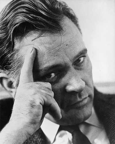 Richard Burton. Wonderful voice, especially as 1st Voice in Dylan Thomas's Under Milk Wood.