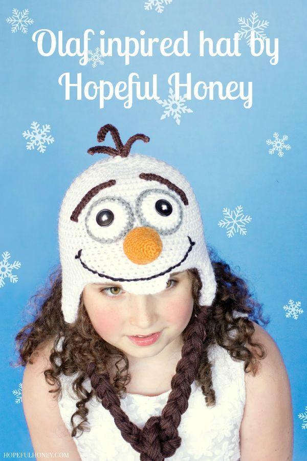 Free Olaf Crochet Hat Pattern - Disney Frozen Movie Inspired