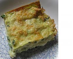 Lasagnetta di rucola, patate, crescenza e gorgonzola