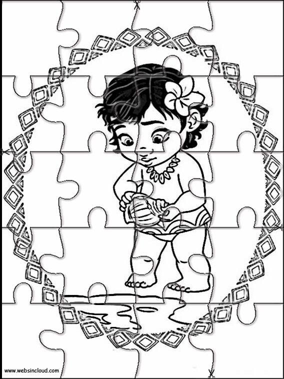 Vaiana Moana 9 Puzzles Rompecabezas Recortables Para Imprimir Recortables Para Imprimir Imprimir Dibujos Para Colorear Rompecabezas Para Imprimir