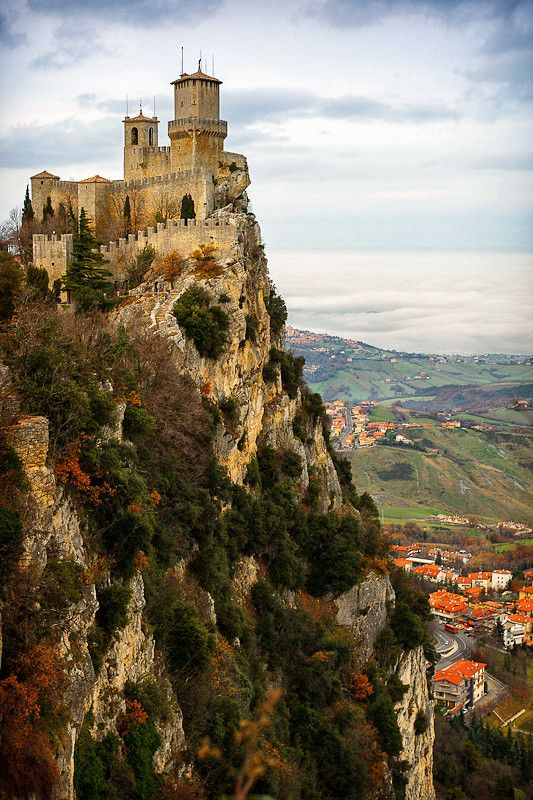 San Marino, Italy. One of the places that still has a piece of my heart. A real fairy tale place, so beautiful.
