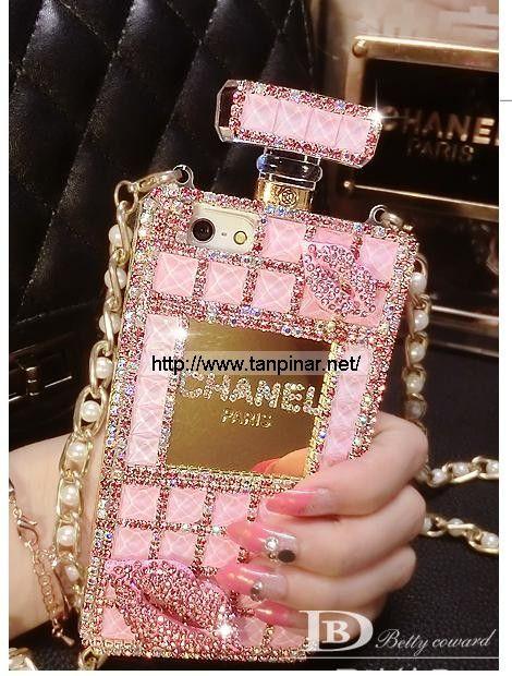キラキラ香水瓶 ブランド シャネル iphone6 ケース