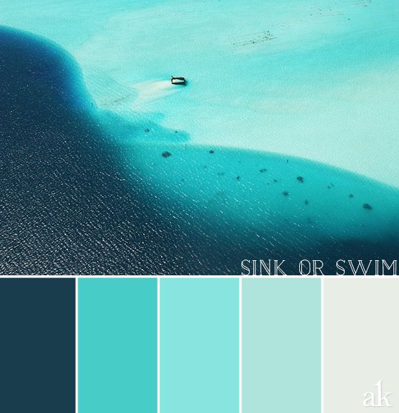 A lagoon inspired color palette color palettes lagoon for Colors that go with ocean blue