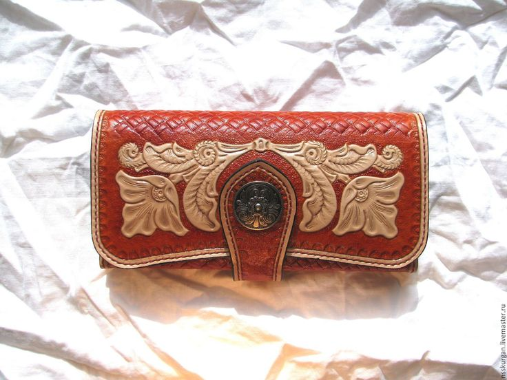 Клатч женский натуральной кожи с гравировкой - купить или заказать в интернет-магазине на Ярмарке Мастеров | Клатч женский (большой кошелек, театральная,…