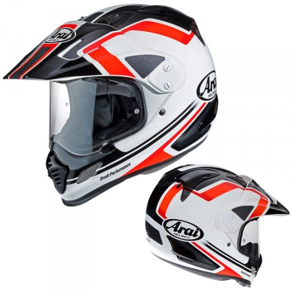 Casque Arai Tour-X 4 #speedwayfr #france #moto #casque #cross #rouge #blanc