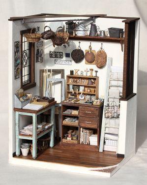 Miniature shop room box