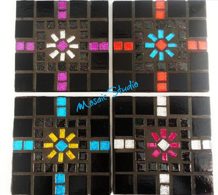 Mosaic Square Coasters - Kit-Set by MosaicStudio1 on Etsy