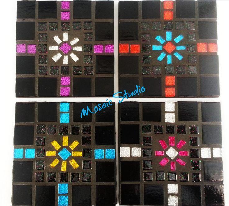 Mosaic Square Coasters - Kit-Set by MosaicStudio1 on Etsy