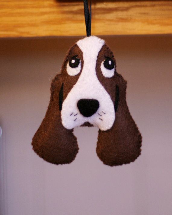 dog felt ornament