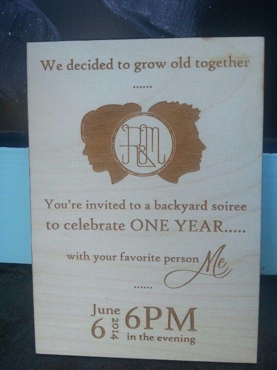 St anniversary invitation to husband for dinner i m