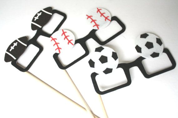 Sports Photo Props. Photo booth Props. Party Props. by MaroDesigns