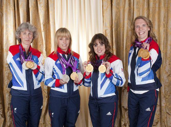 Paralympics GB equestrian team: Sophie Wells, Sophie Christiansen, Deborah Criddle and Natasha Baker