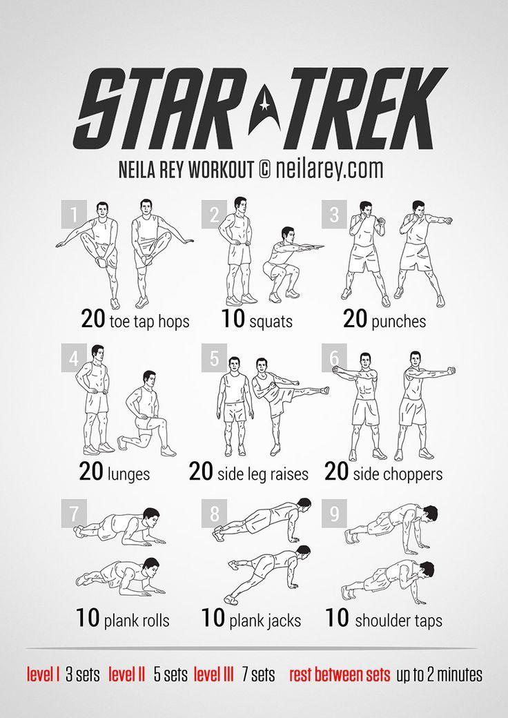 Star trek workout from neila rey workout pinterest for Programme de remise en forme