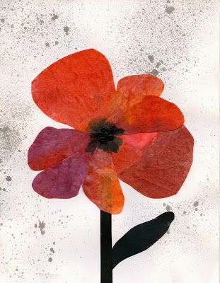 Poppies for Remembrance Make a card to display with student writing.