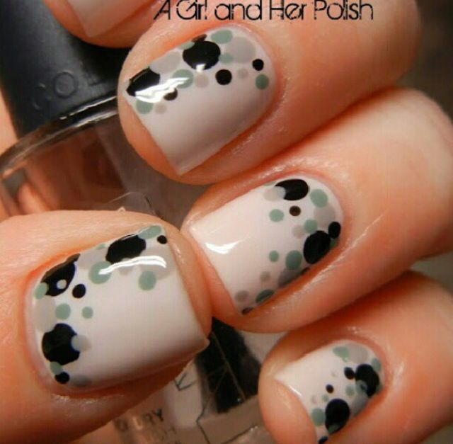 I like the nude and the layout of the polka dots