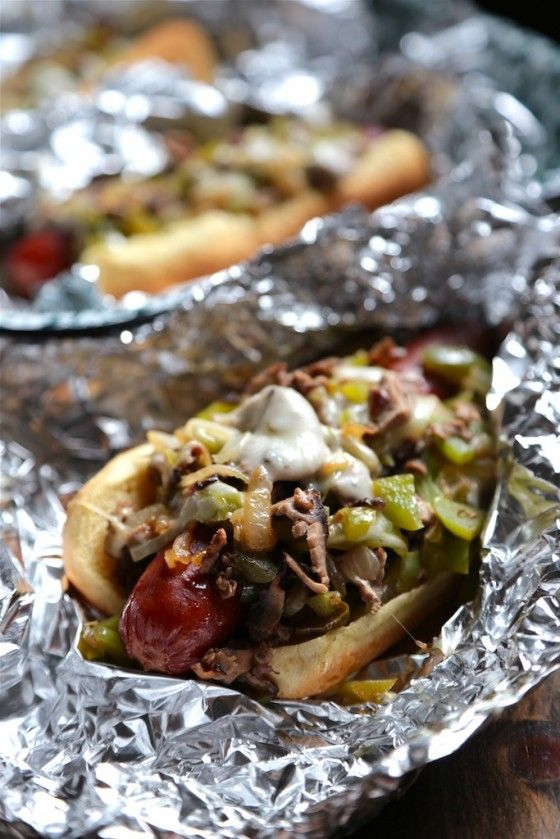 Hubs would LOVE these Philly Cheesesteak Hot Dog - www.countrycleaver.com