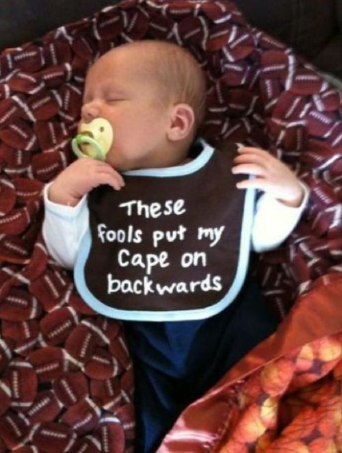 so cute!Capes, Baby Boys, Children, Future Kids, Future Baby, Baby Bibs, Funny Baby, So Funny, Baby Gift