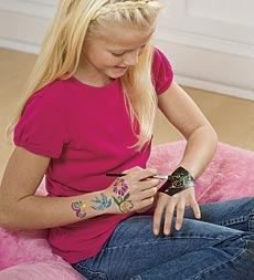 sparkle-tattoo-kit.... HearthSong.... Great even for adults..