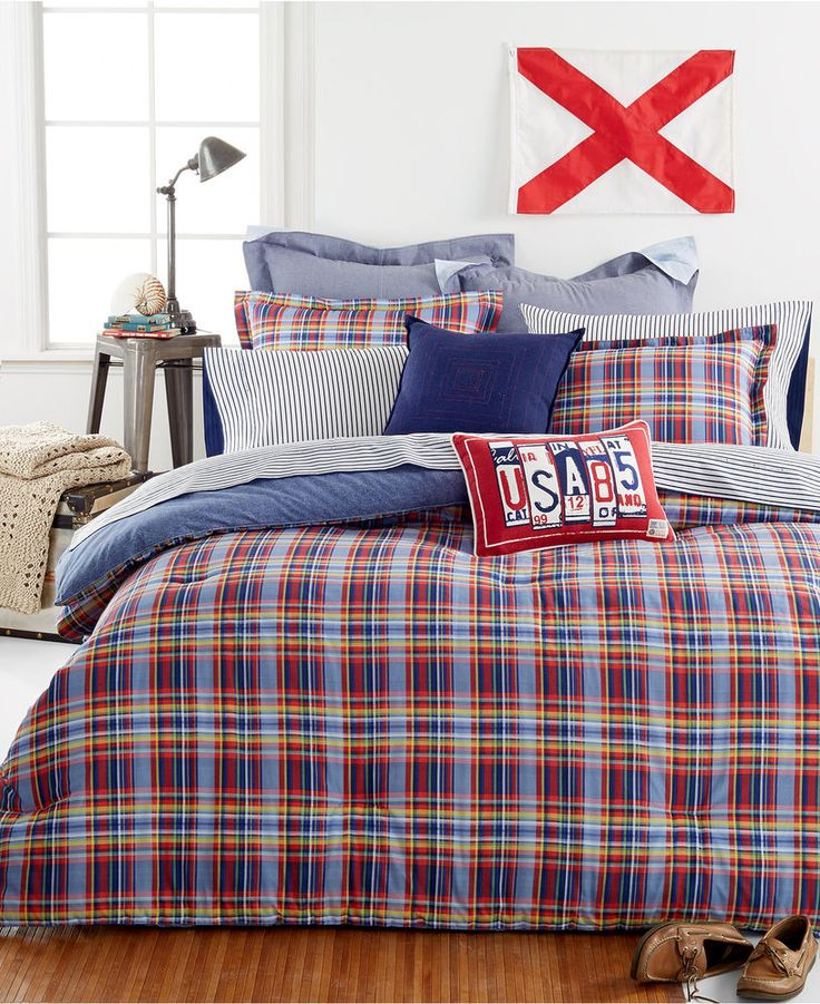 Tommy Hilfiger Stanford Plaid 3pc Full Queen Comforter Set Nip Queen Comforter Sets Comforter