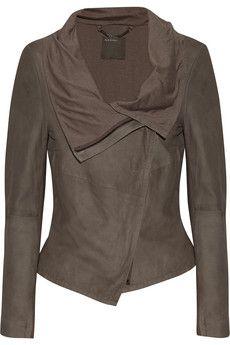 Muubaa Sinoia draped leather jacket   THE OUTNET